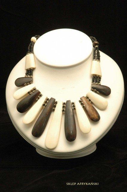 Naszyjnik z kości bawolej - Sklep Afrykański